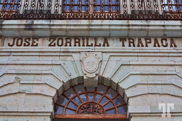 Facade of Jose Zorrilla Trapaga old textile factory build in 1883