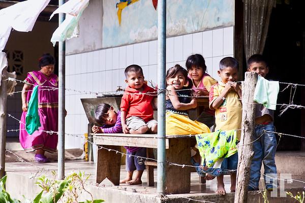 Coffee farm Kuna Yala kids in Boquete, Panama