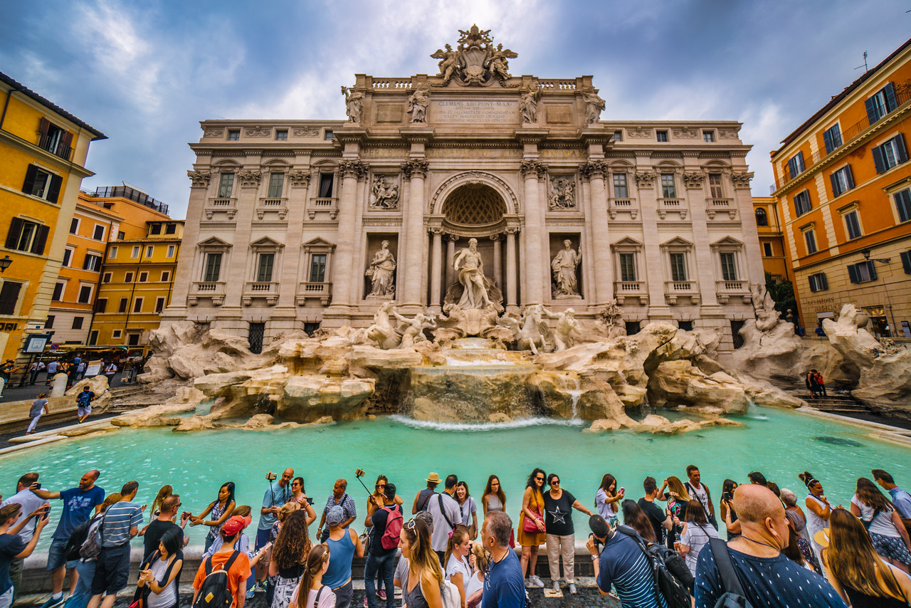 Sigh of Relief at Trevi Fountain