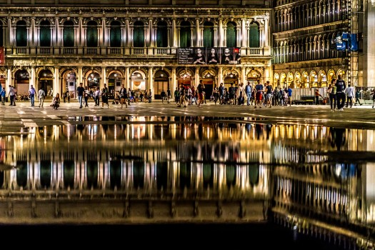 Reflections in St Marks Square