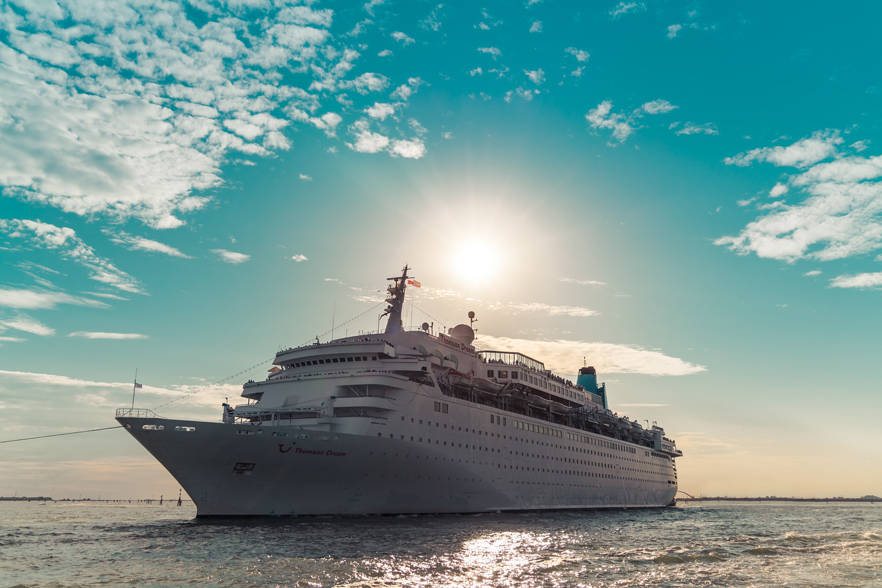 Cruise Ship Leaving the Port of Venice