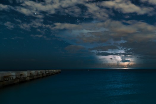 Offshore Overnight Thunderstorms