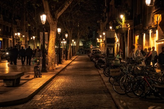 Barcelona Walking at Night