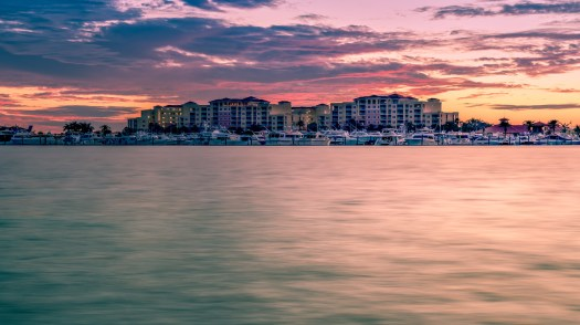 Apartment buildings in the city of Palmetto, Florida