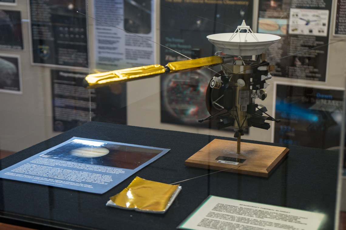 Model of Cassini on display at the Harvey House