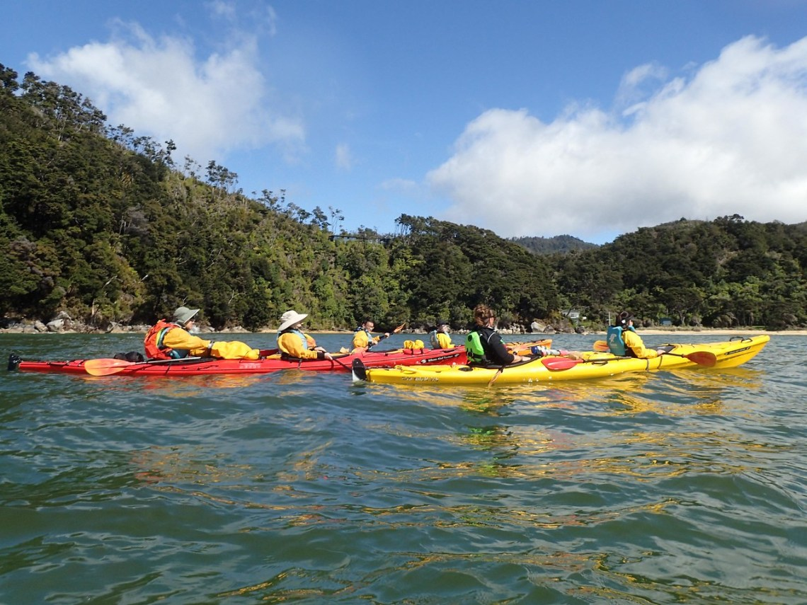 Kayaking on Torrent Bay, Abel Tasman National Park