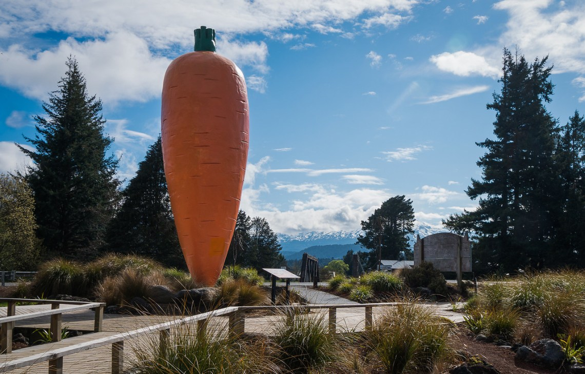 The Big Carrot in Ohakune