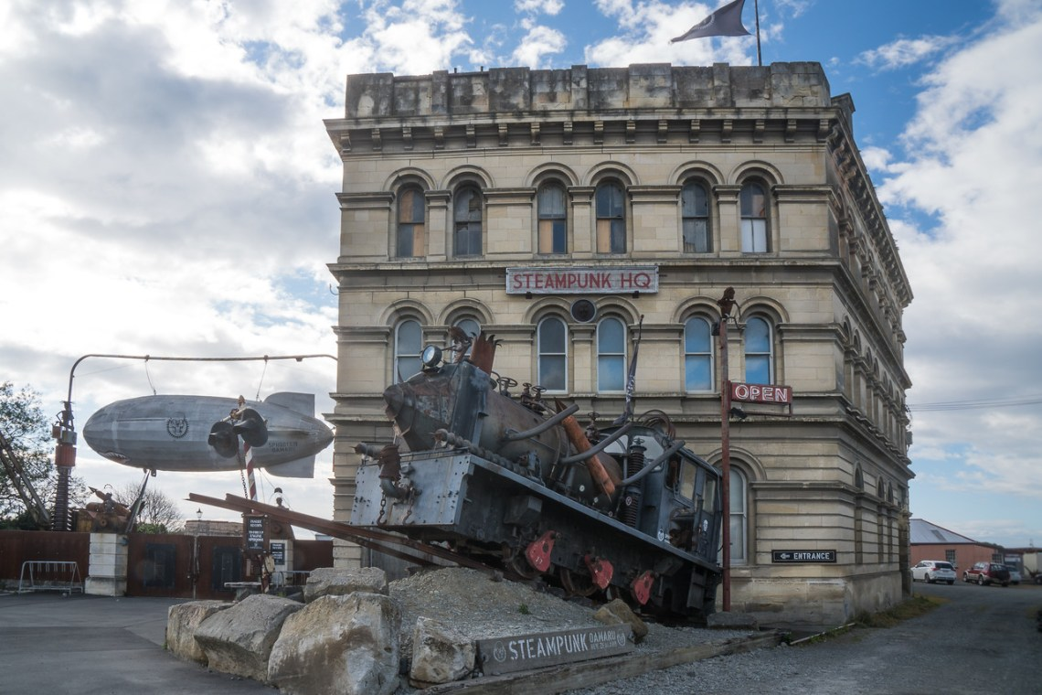 Steampunk HQ building in Oamaru