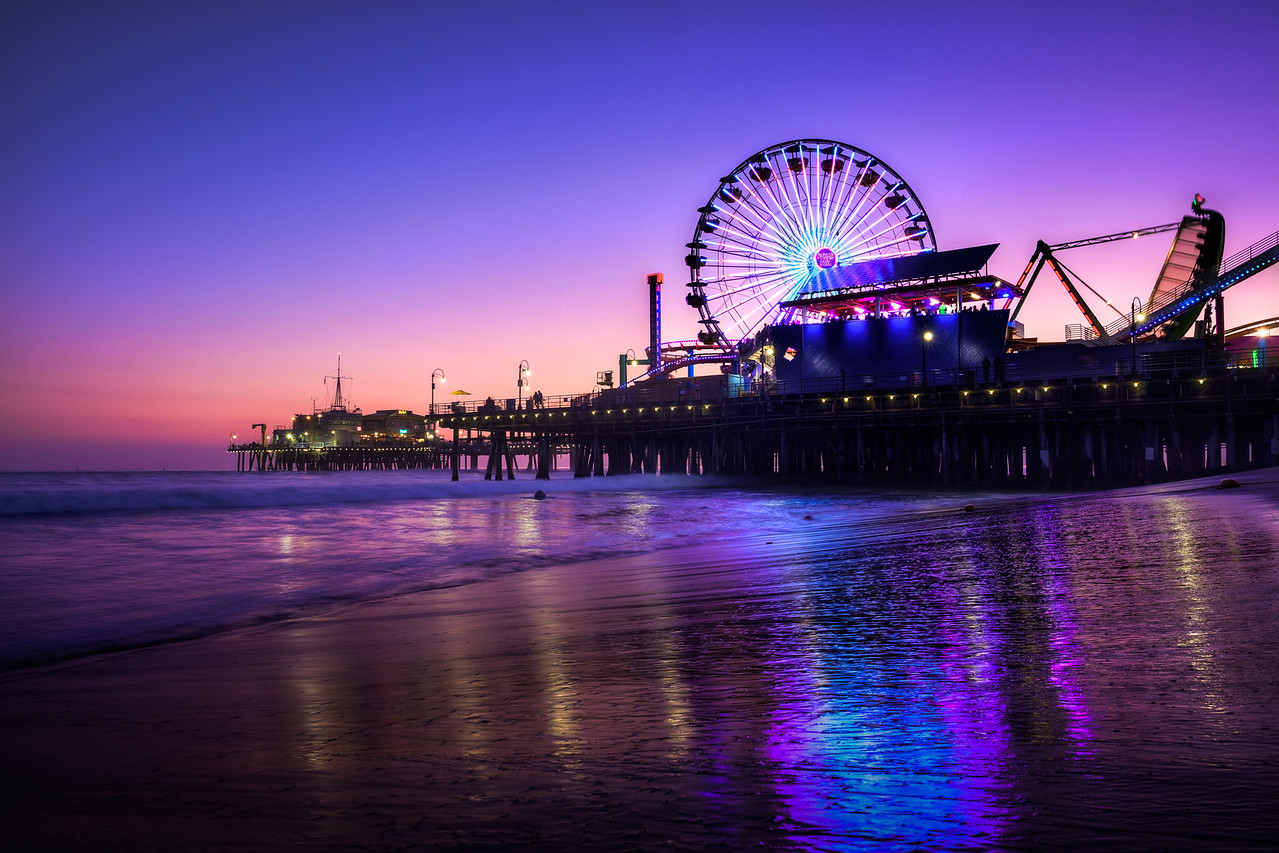 Santa Monica Pier Night