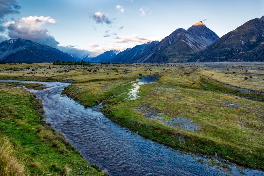 A Soft River Near Mount Cook
