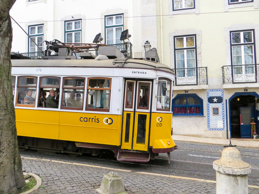 Lisbon solo travel means a ride on the tram!