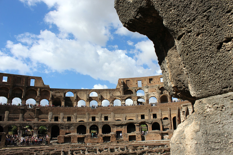 First glimpse of the inside of the Colosseum arena