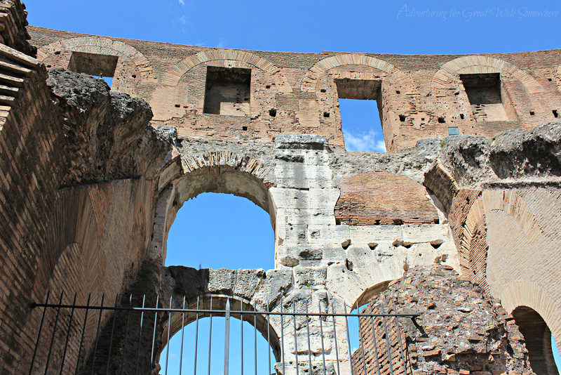 More of those gorgeous arches set against bright blue Roman skies!