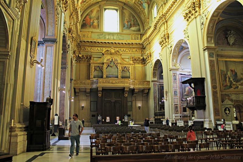 The Organ at the Church of Sant'Andrea della Valle in Rome