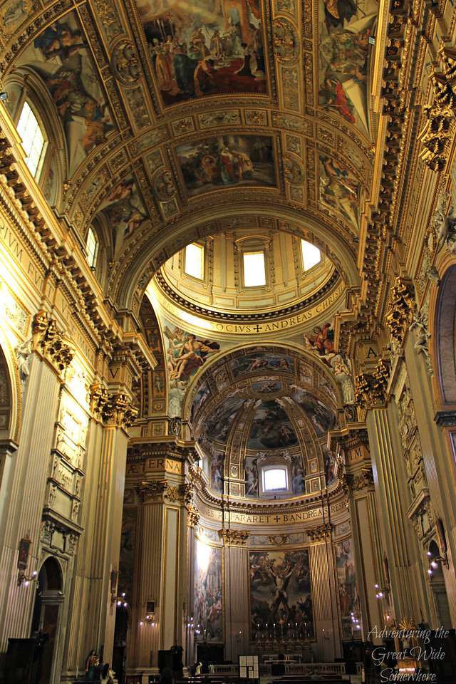 Ceilings of The Church of Sant'Andrea della Valle in Rome, which is free to visit!