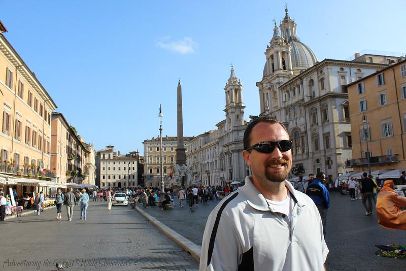 Dan in Piazza Navona, Rome