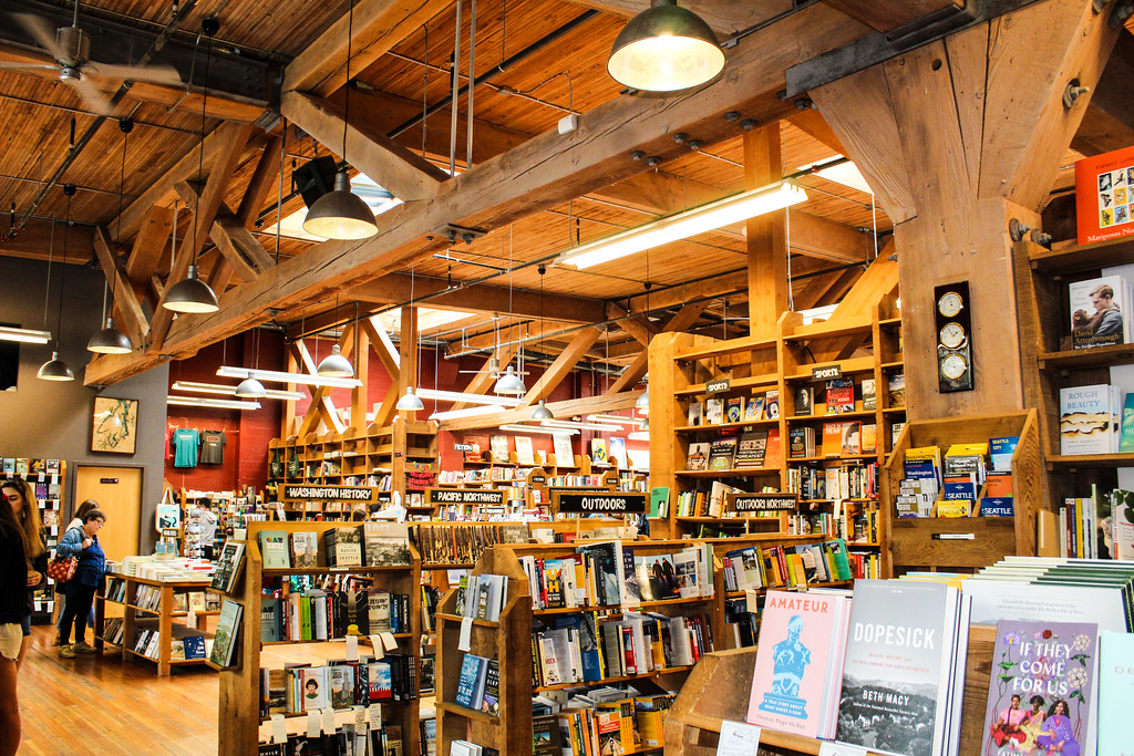be sure to visit bookstores when traveling to seattle alone
