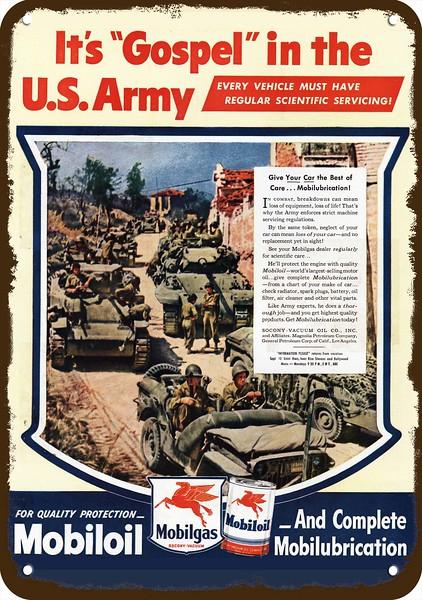 1945 mobil oil vintage