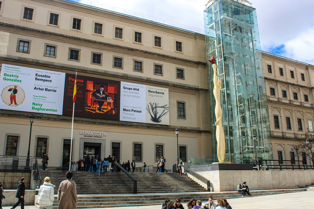 Madrid Solo Travel: Don't ever skip Reina Sofia which has the best modern art in Madrid