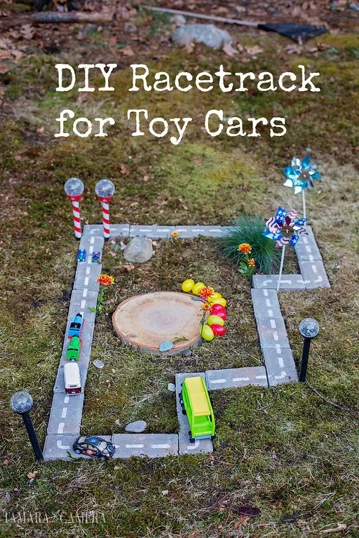 DIY Pool Noodle Racetrack For Toy Cars. - Tamara Like Camera