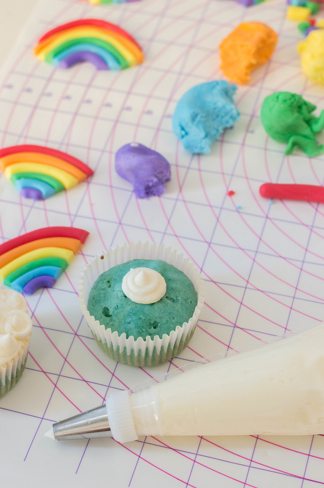 Make this Cheerful Rainbow Cupcakes recipe to celebrate rainbow babies, kids' birthdays, Pride, or diversity as a whole. They're easy to make and so much fun