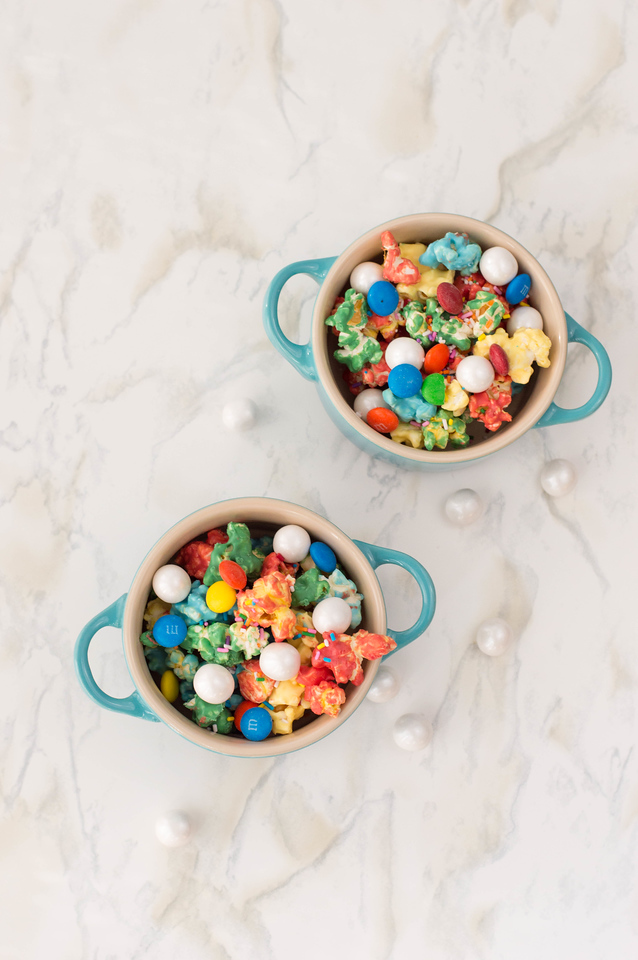 This Rainbow Candy Popcorn is perfect for movie night or parties, or celebrating PRIDE! Or, of course, all of the above. It's easy to make too.