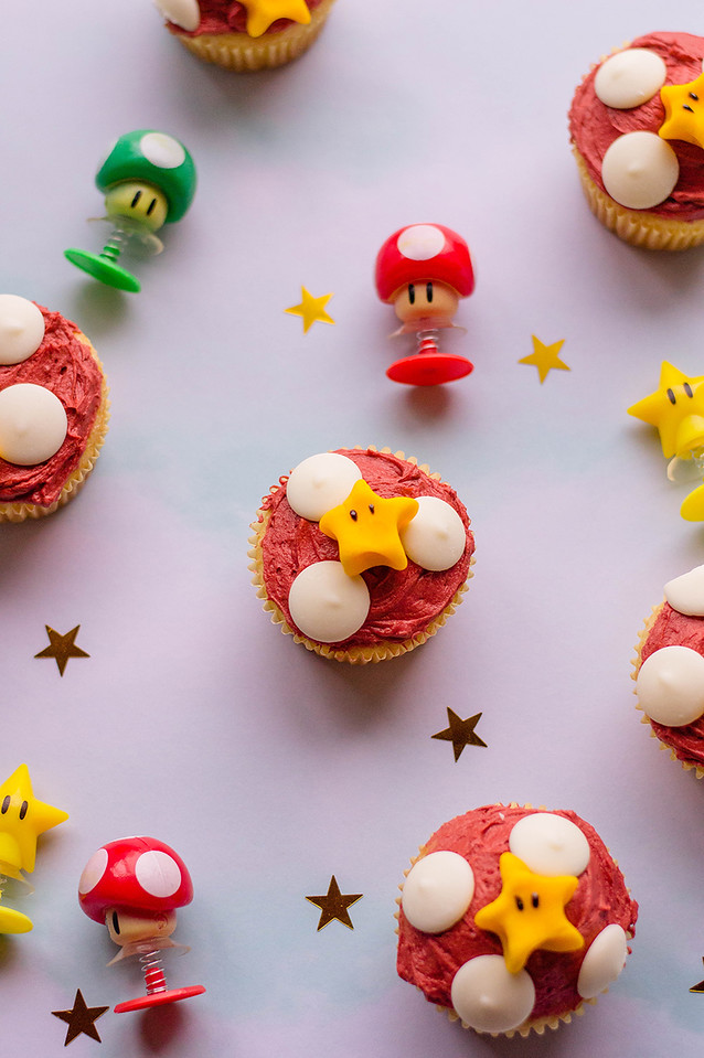 Whether you're having a Super Mario Bros. birthday party, or making these just because, they are a delightful and delicious cupcake to serve!