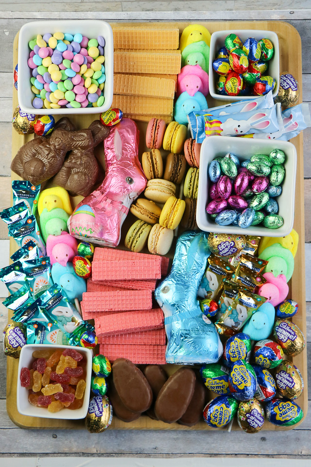 Easter Candy Charcuterie Board. These Easter Candy Grazing Board/Charcuterie Plate will make all of your guests so happy and delighted.