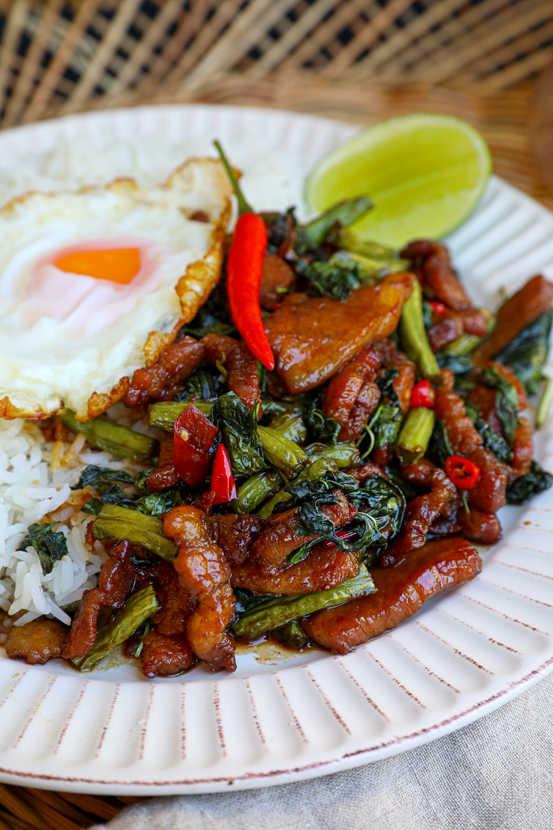 Thai Basil Pork Belly Recipe & Video