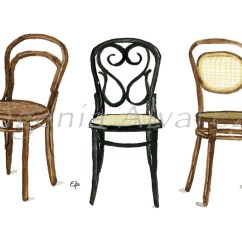 Chair Design Icons Countertop Height Kitchen Chairs Famous Industrial Eugenia Alvarez Thonet Painting Art Print Furniture Fine From Watercolor Arts