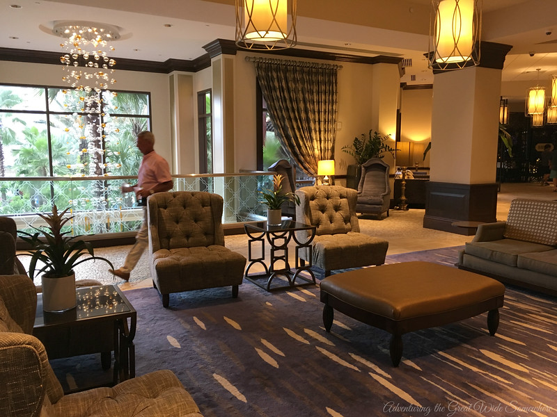 Main Lobby Lounge Area at the Wyndham Grand Orlando Resort Bonnet Creek