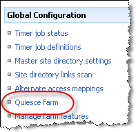 Quiesce farm