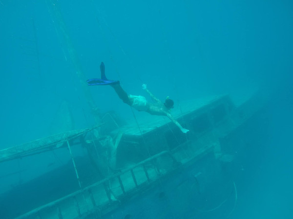 Maldives on a budget - shipwreck snorkel
