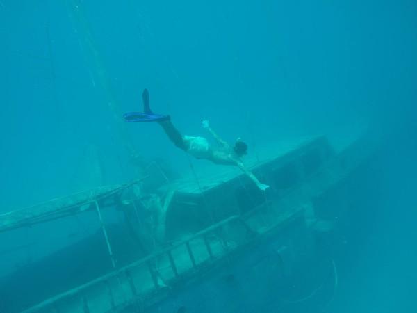 Maldives on a budget - shipwreck snorkel