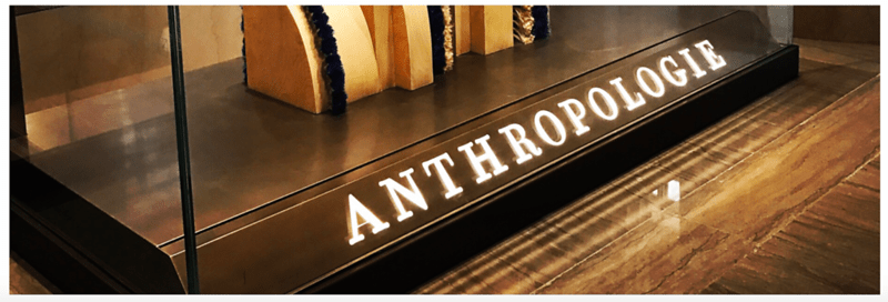Anthropologie sign