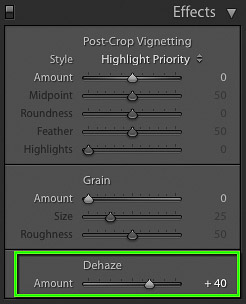 The new Dehaze slider in Lightroom CC 2015.1