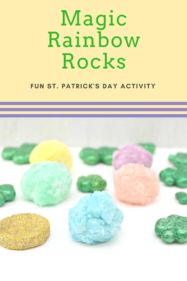 These Magic Rainbow Rocks are easy to make, and each one has a big surprise inside! Perfect for St. Patrick's Day, or all year long!