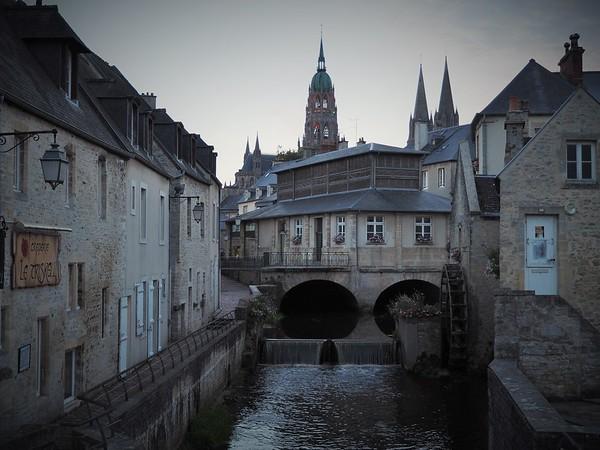 Bayeux at sunset.