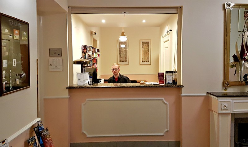 Small Hotels in Prague - front desk