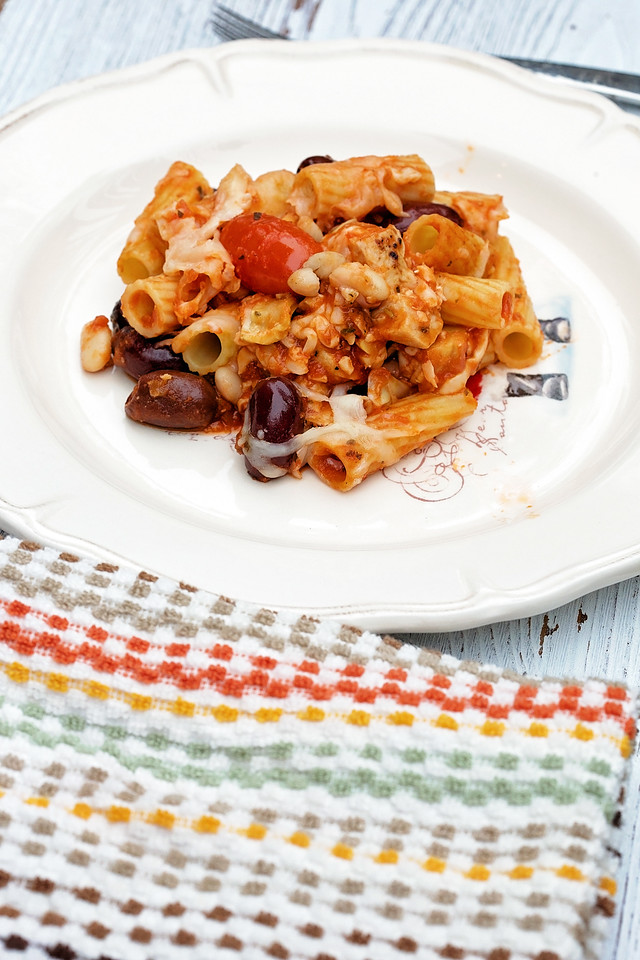 This delicious, easy Mediterranean Pasta Bake is an incredible dish for the season. Bring to a party or serve right at home! All ingredients at Walmart. #HolidayPairing #ad