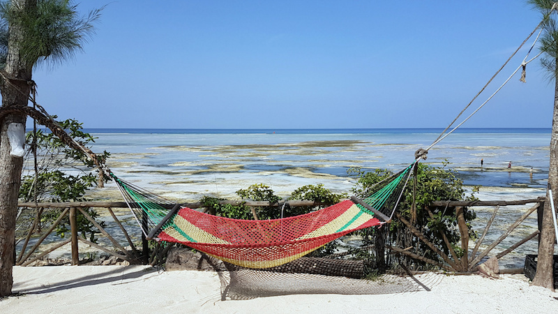 Trip to Zanzibar - Hammock at Promised Land Lodge