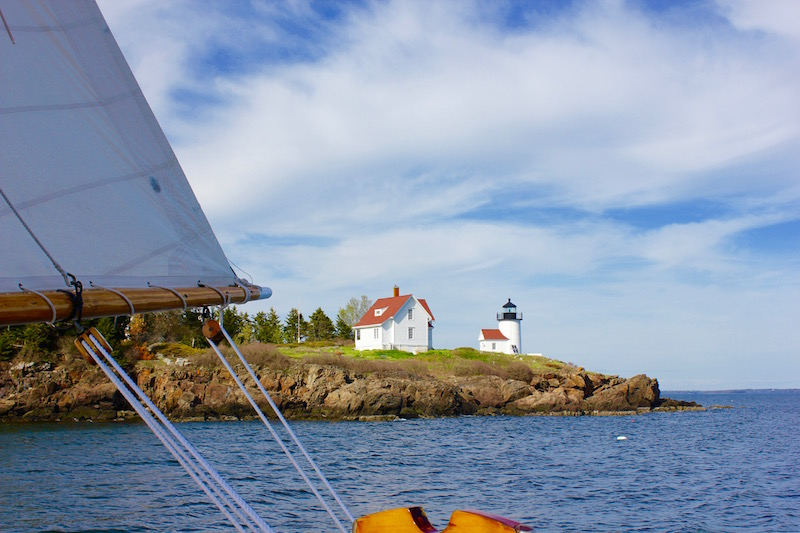 tiny island in Penobscot Bay