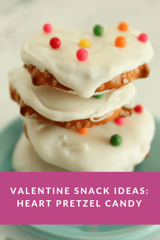Looking for Valentine Snack Ideas? Heart Pretzel Candy is easy to make and super cute to eat and serve just in time for your Valentine's Day celebrations!