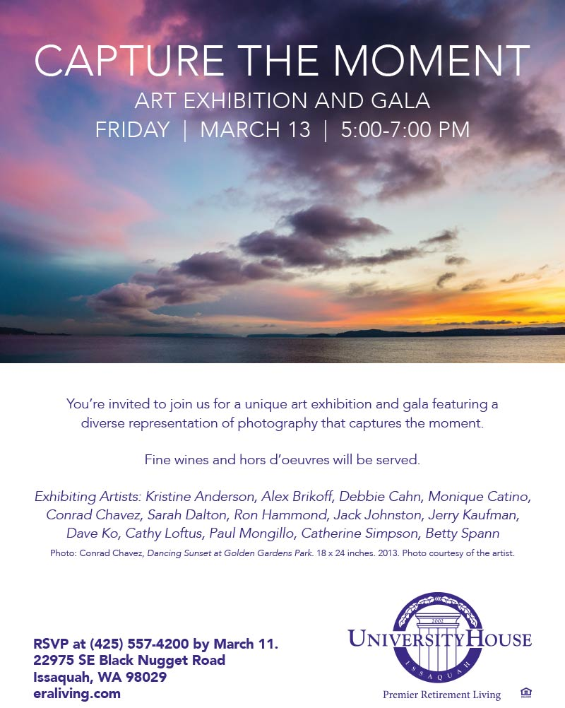 Flyer for Capture the Moment photo exhibition
