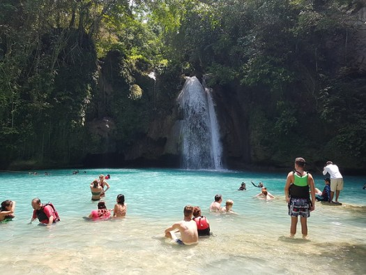 Kawasan Falls is renowned for its clean, clear waters