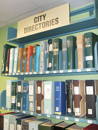 Early Dayton city directories in the DML Genealogy Dept.