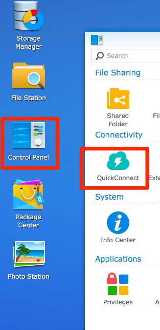 Using Synology QuickConnect