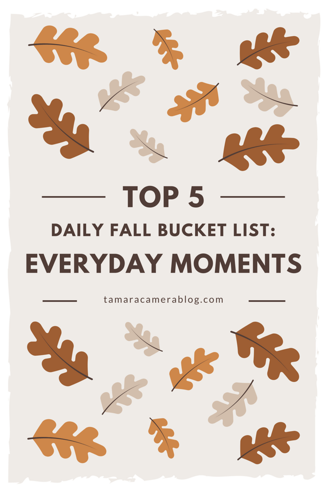 Everyone talks about fall bucket lists, and although I make a one every year, here are the five things I like to do DAILY. So much to enjoy! #ad #TeaProudly