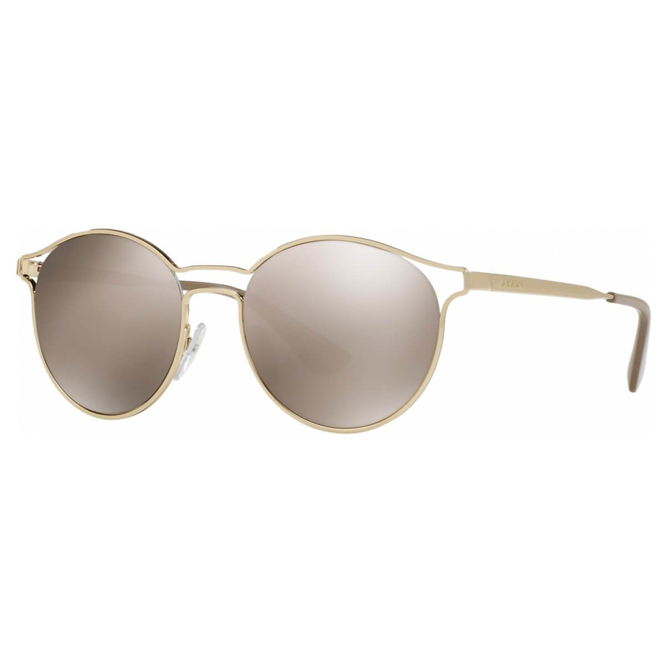 Prada Gold Frame Womens Brown Lens Sunglasses