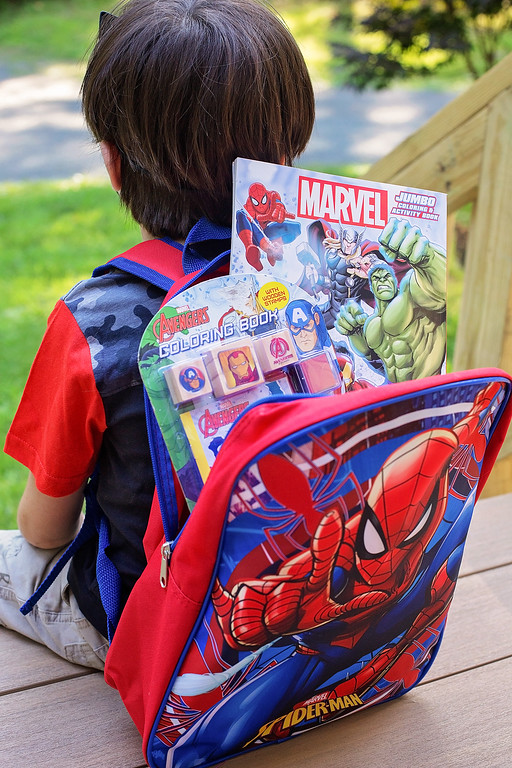 #ad Time to gear up for back to school! Here's how we use our favorite Marvel gear from Dollar General to get excited and go back to school like a superhero